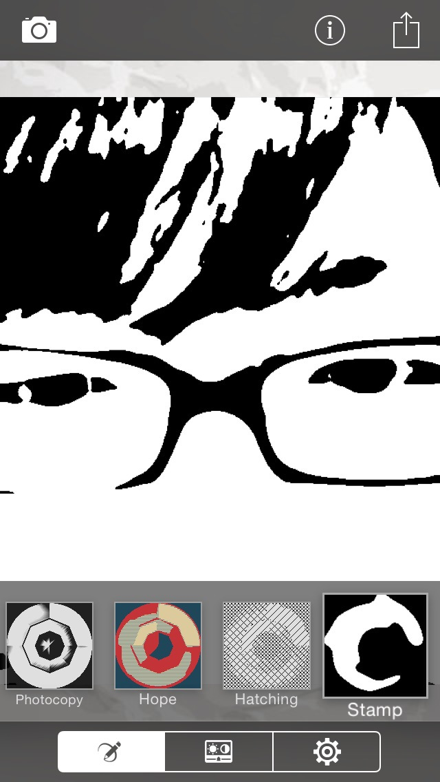 XnSketchで白黒にします