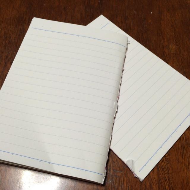 使わないノートのページは切り取ってしまう