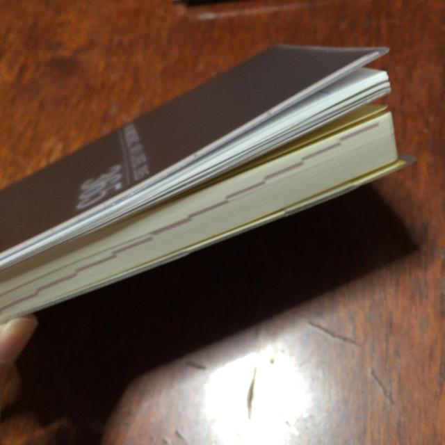 タワレコ手帳2015の厚みがちょっと増した…